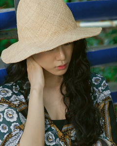 'JEJU' unique straw hat