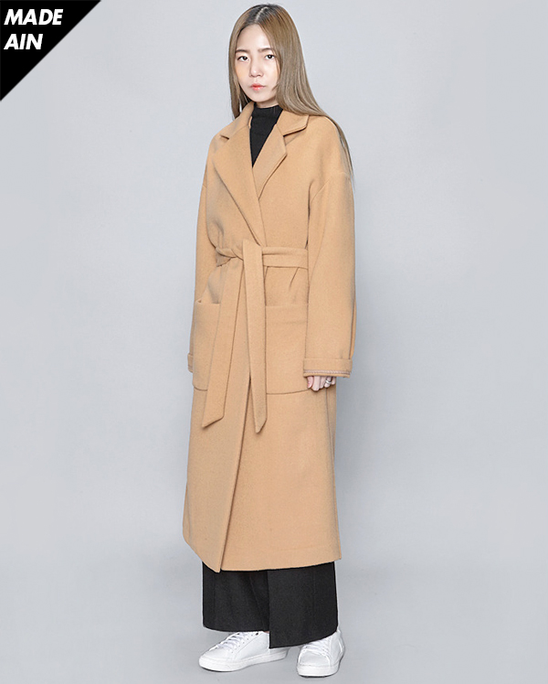 FRESH A wool strap coat (2 colors)