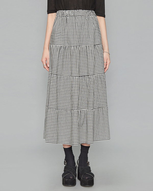 long check cancan skirt