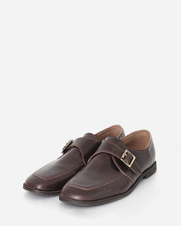 square belt loafer (2 colors)