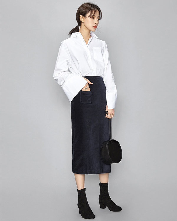 oversize basic cotton shirts