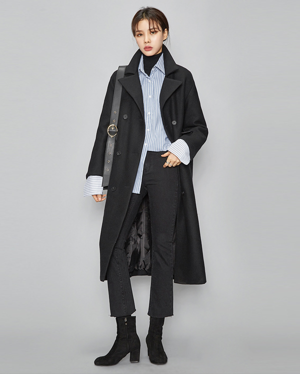 chic mood wool long coat (3 colors)