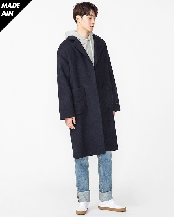 MORE A wool strap coat (2 colors)