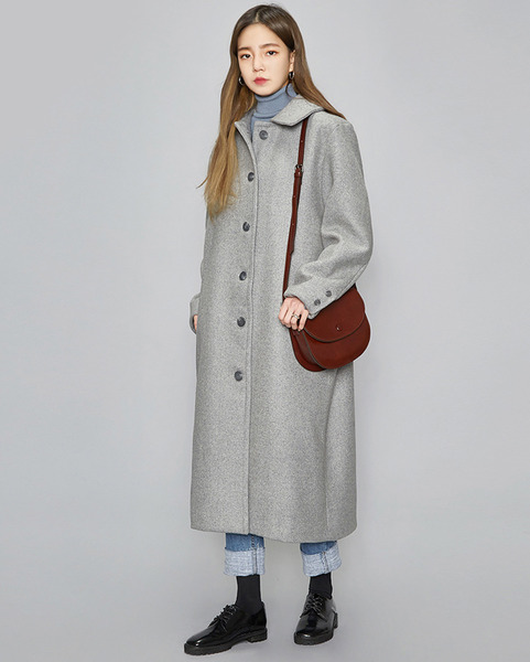 herringbone over coat (2 colors)