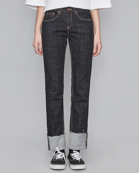 deep color slim denim pants (2 colors)