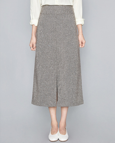 feminine A-line wool long skirt (2 colors)