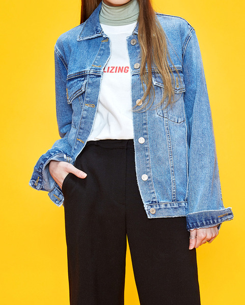 casual vintage daily denim jacket