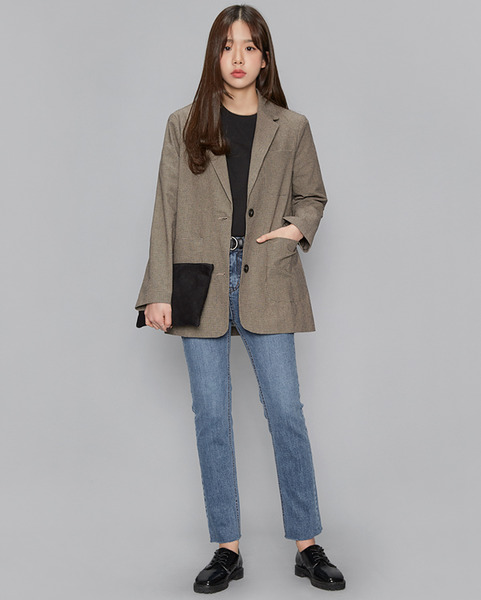 margaret cotton check jacket