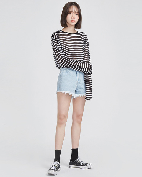 lucky stripe summer linen T