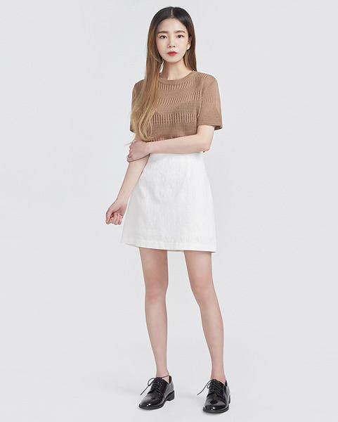 see-through casual half sleeve knit (4 colors)