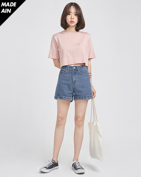 FRESH A crop knit (4 colors)