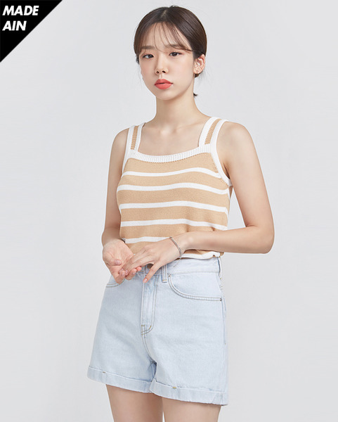 FRESH A stripe sleeveless knit (2 colors)