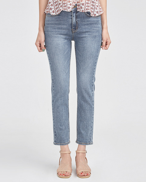slender version straight denim pants (s, m, l)