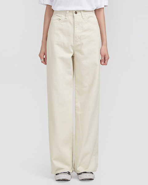 high waist wide cotton pants (s, m, l)