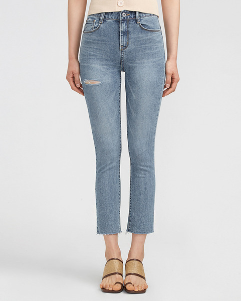 one damage slim denim pants (s, m, l)