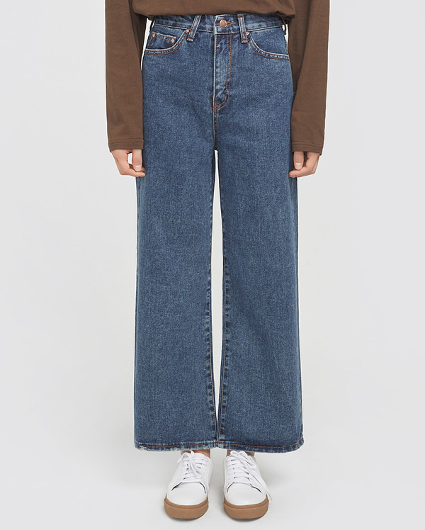 meeting washing wide denim pants (s, m, l)