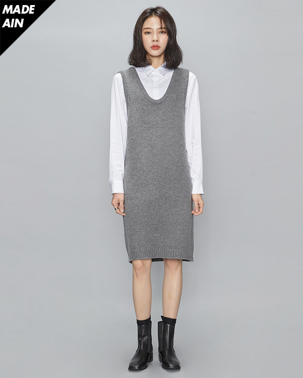 FRESH A wool knit ops (5 colors)