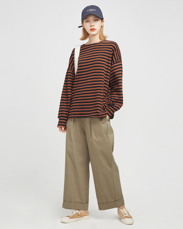 casual coco stripe T