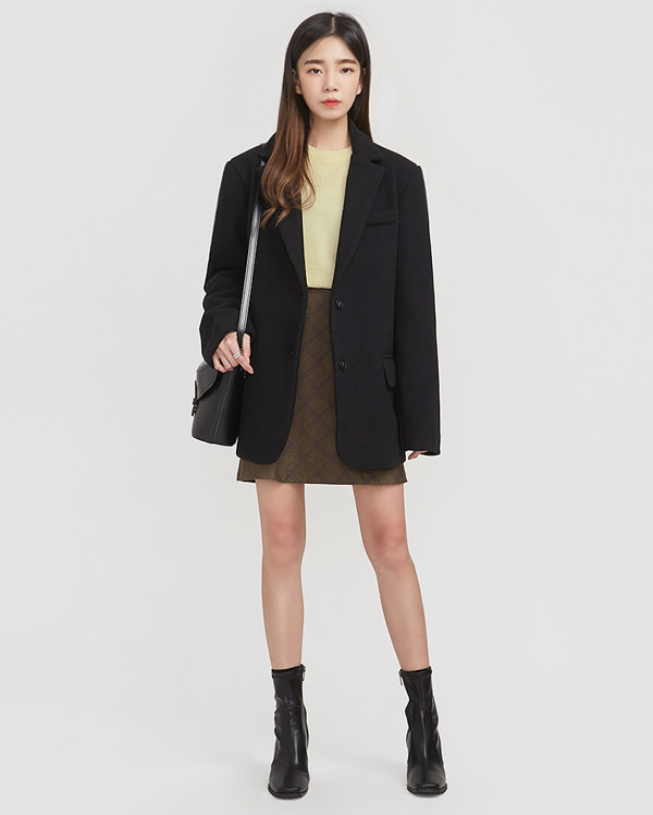 single daily wool jacket