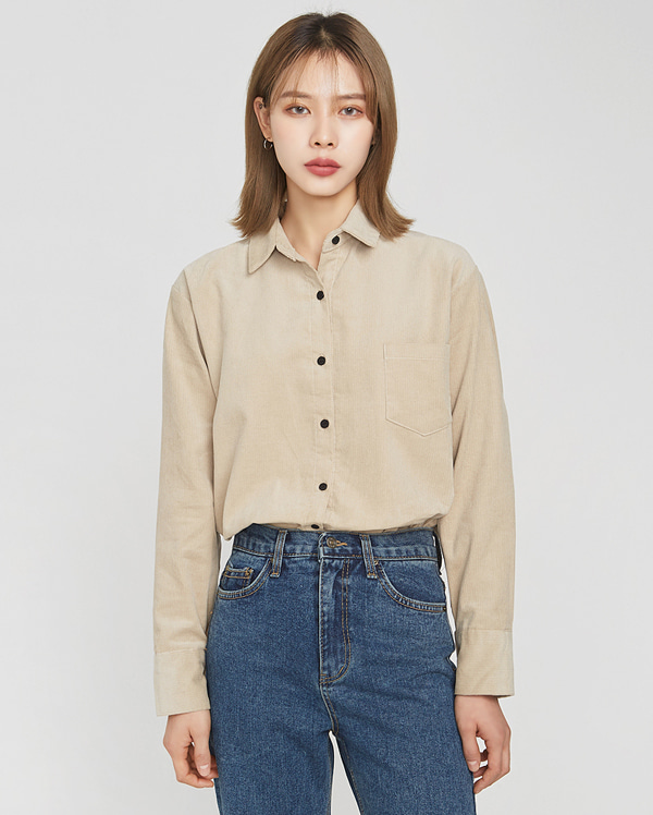corduroy bean button shirts