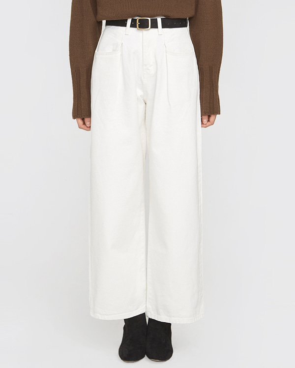 wide leg cotton pants (s, m)