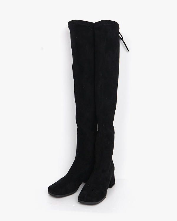 girlish ribbon long boots (225-250)