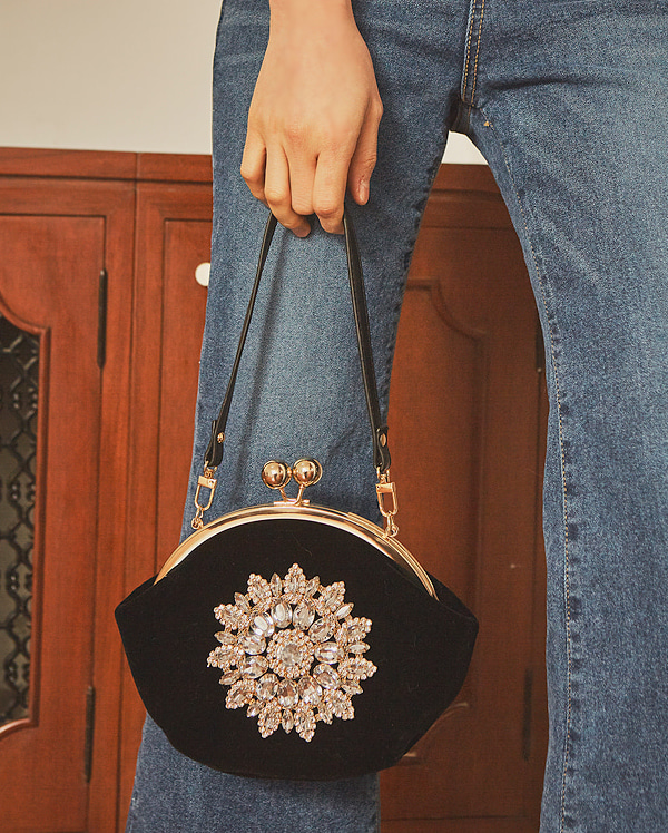 luxury cubic velvet bag