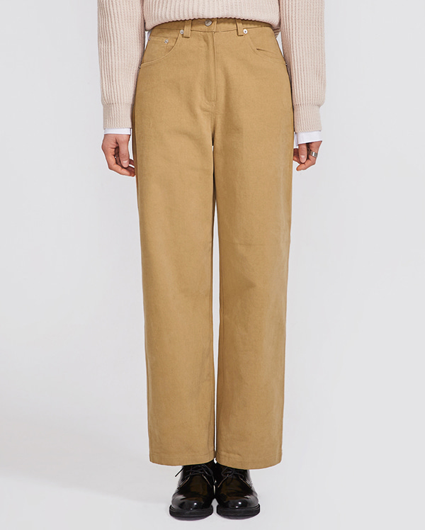 carrot wide cotton pants (s, m)