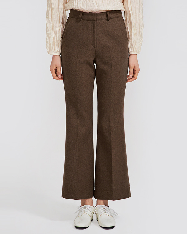 mainly boots cut wool slacks (s, m)