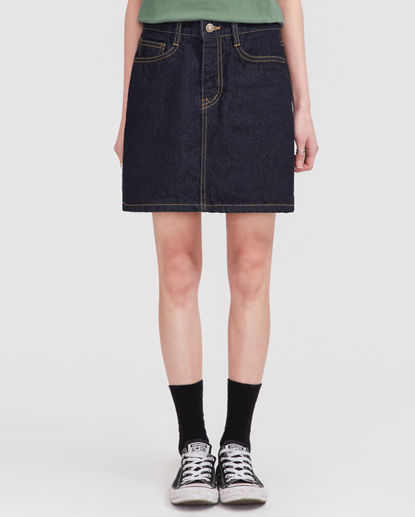 stitch denim skirt (s, m, l)