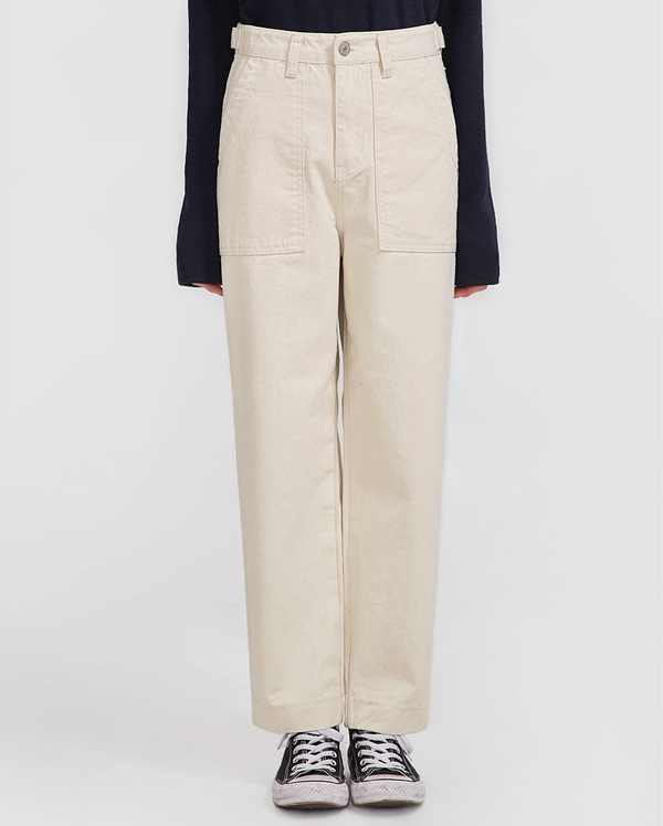 natural pocket pants (s, m, l)