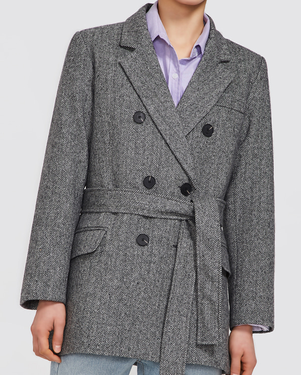 mood belt double wool jacket