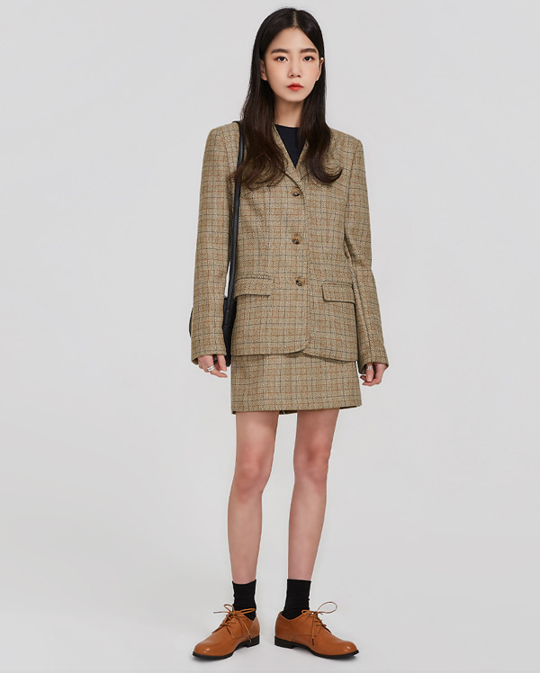 retro standard check jacket