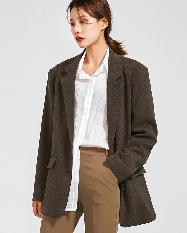boxy belt set jacket