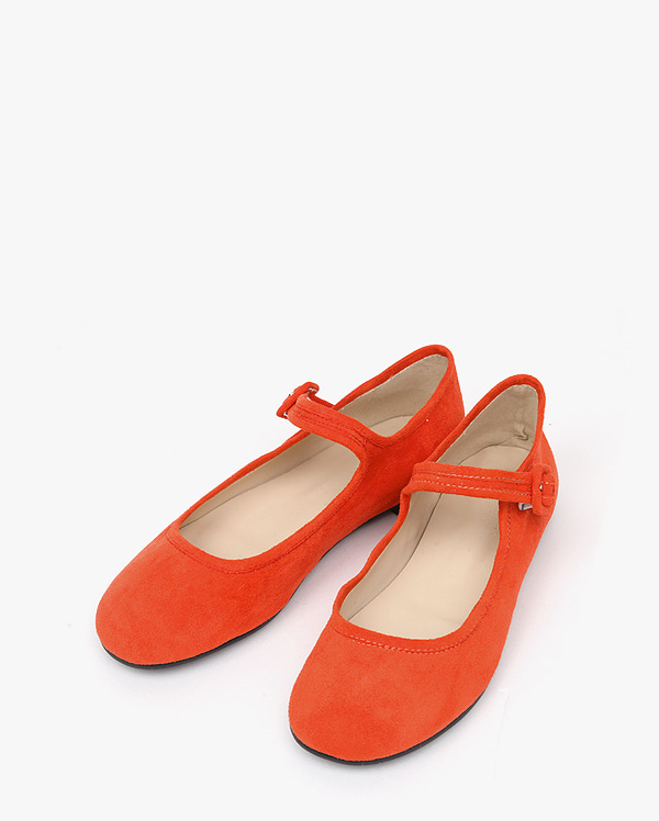 suede buckle flat shoes (225-250)