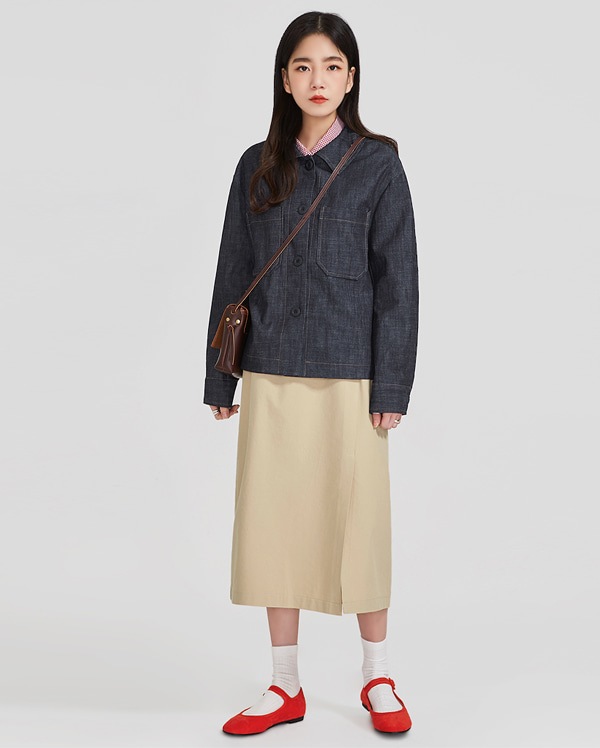 two pocket cotton jacket