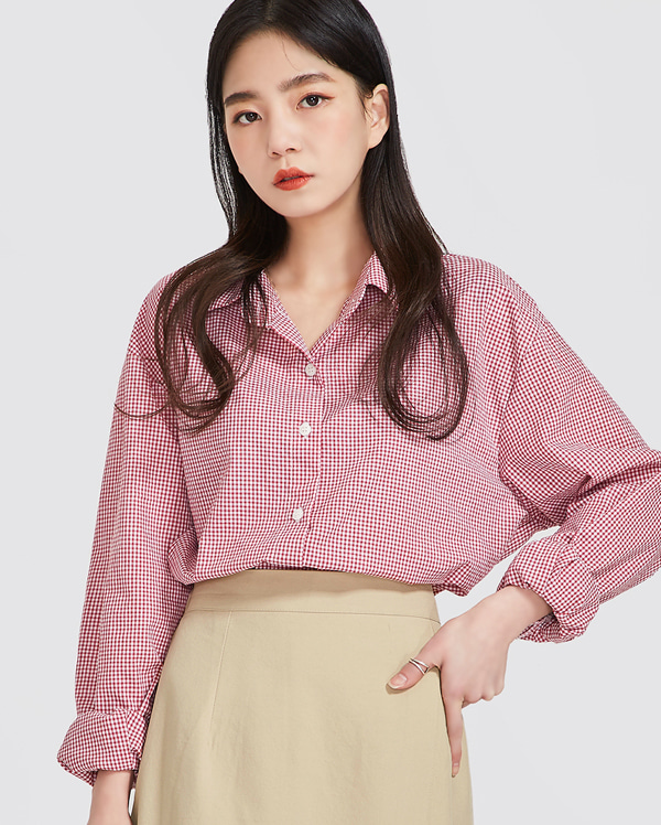 spring natural check shirts