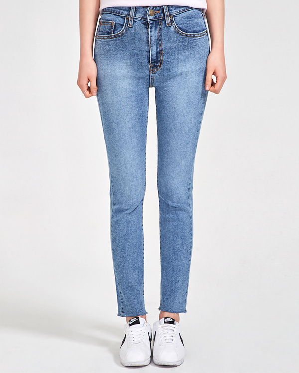 grown straight denim pants (25-29)