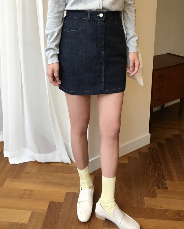 last girlish denim skirt (s, m)