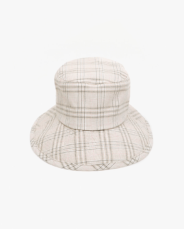 softy check bucket hat