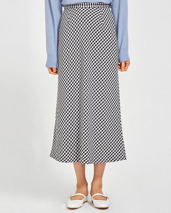 mense tiered check skirt (s, m)