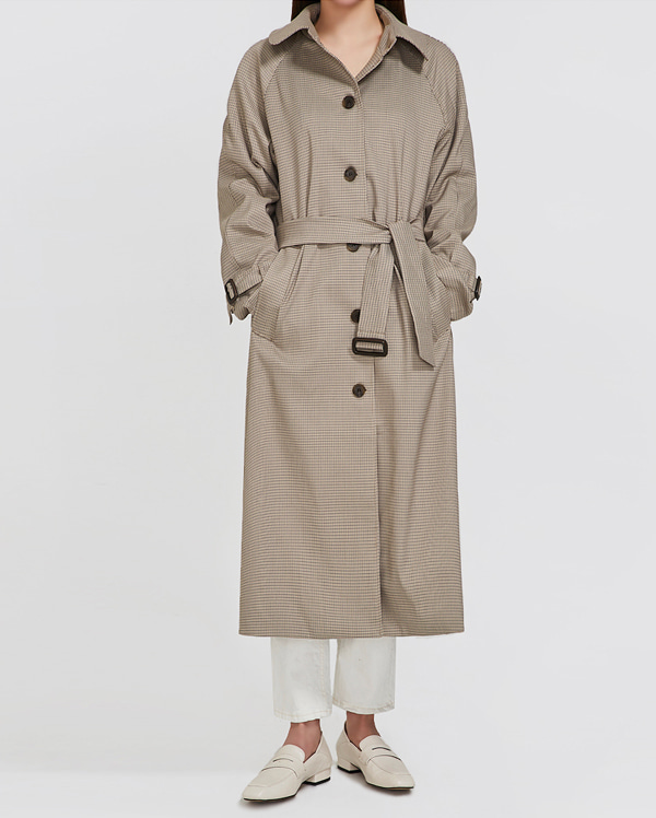 clever check trench coat