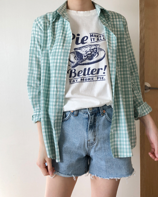 sow pastel check shirts