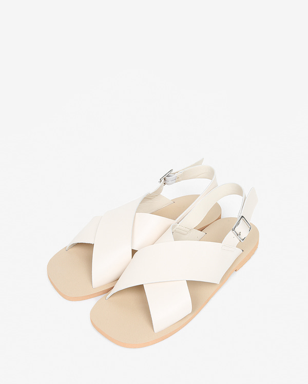 high leather cross sandal (230-250)