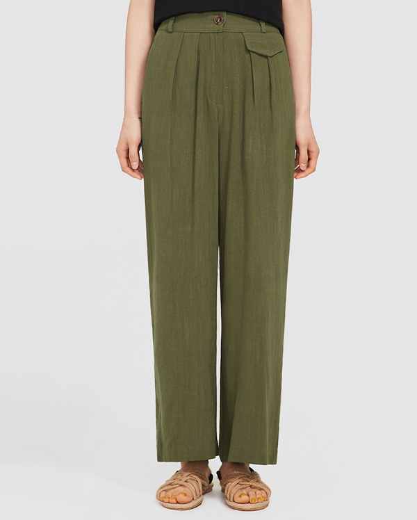 wear wide linen pants