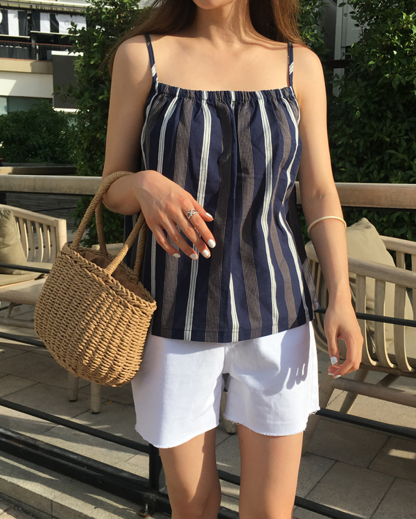 mix stripe sleeveless