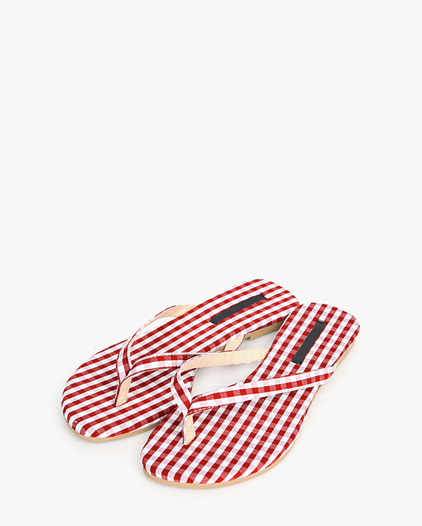 charming check slipper (230-250)
