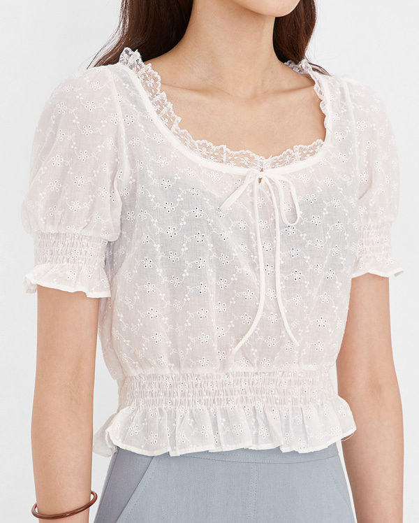 beauty frill lace blouse