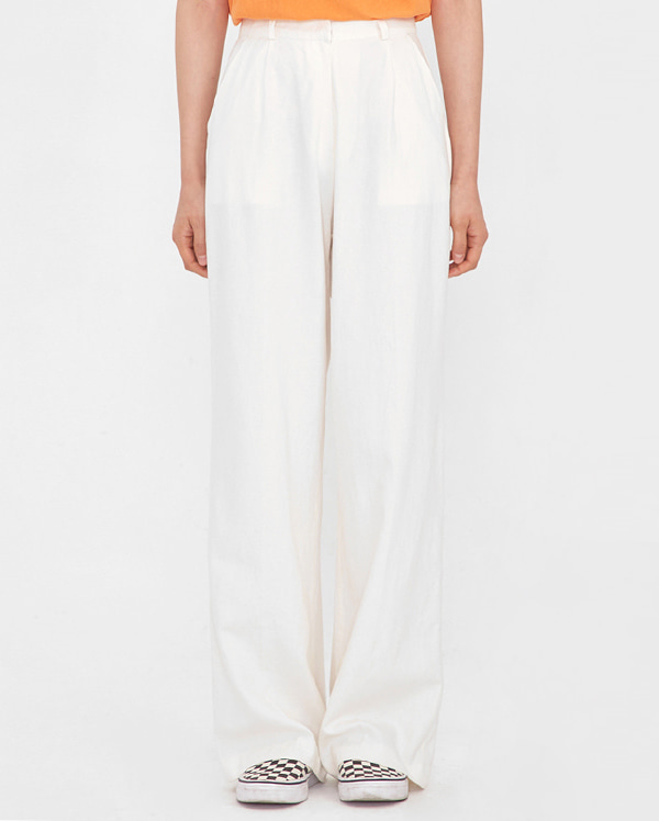 trendy mood linen slacks (s, m)