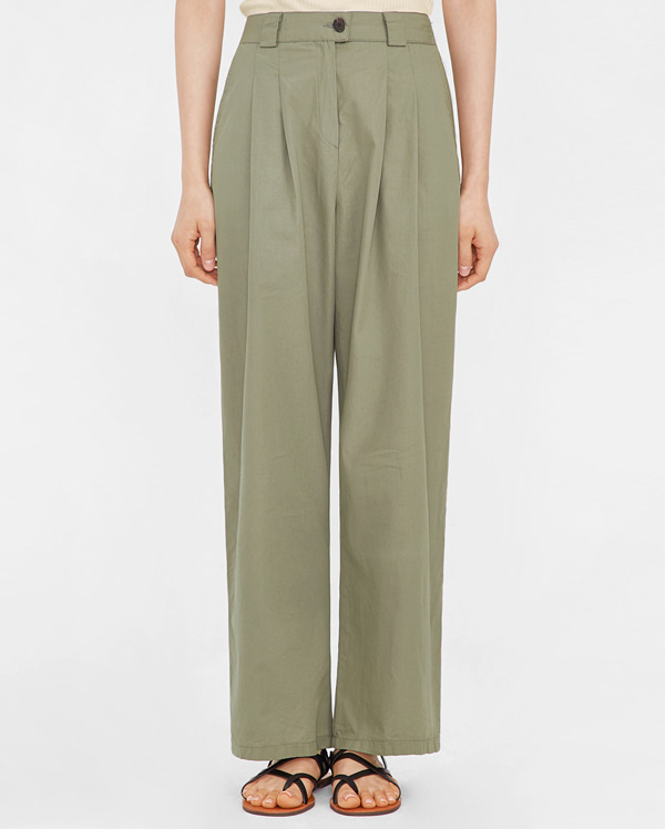 sandy pintuck wide slacks
